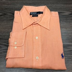 Polo Ralph Lauren Solid Orange Oxford Shirt XL